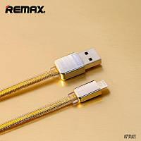 Кабель Зарядка Для IPhone, USB Кабель Remax Gold King Kong Lightning, 1м