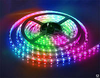 Светодиодная лента SMD 3528/60 12V RGB IP20 Код.52517