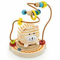 """Пальчиковый лабиринт с мягкой игрушкой """"Мурчик"""" для детей от 1 года ТМ """"Игрушки из дерева"""" Д387"""