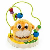 """Пальчиковый лабиринт с мягкой игрушкой """"Совушка"""" для детей от 1 года ТМ """"Игрушки из дерева"""" Д388"""