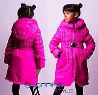Детская подростковая куртка-пальто Малинка