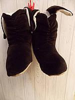 Тапочки-сапожки с ушками велюровые детские