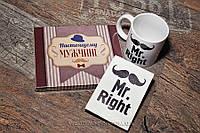 """Набор """"Настоящему мужчине 3"""" - шоколадный набор с милыми признания 100 г + чашка + обложка на паспор"""
