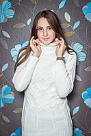 Длинный женский свитер р.42-48 белый
