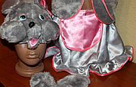 Детский новогодний костюм Мышка-девочка