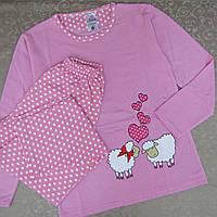 Пижама женская на флисе. Турция, cotton 100%. Женские пижамы, одежда для сна, фото 1