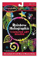 Многоцветная голографическая царапка-трафарет, Melissa&Doug