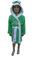 Теплый детский халат  (микрофибра) Massimo Monelli №Зайка с ушками