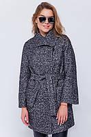 Зимнее пальто «Эйми» черно-белое