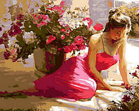 Раскраска на холсте Mariposa Летний полдень Худ Волегов Владимир (MR-Q798) 40 х 50 см