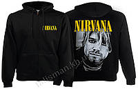 NIRVANA - (K. Cobain) - рок-толстовка на молнии