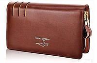 Кошелек мужской кожаный Kangaroo Kingdom,портмоне, барсетка,клатч.