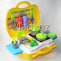 Детская игрушечная кухня, плита для девочки 1 конфорка чемодан Dream
