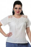 Блуза женская(БЛ 13207) , хлопок, интернет магазин женской одежды , 50,52,54,56.