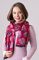 Шарф женский  кашемировый розы