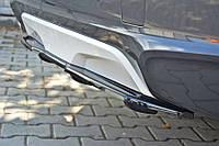 Юбка накладка на задний бампер тюнинг обвес BMW X4 F26 M Sport Paket
