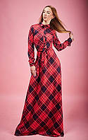 Оригинальное платье декорированное поясом