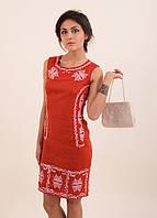 Вышитое платье приталенного кроя