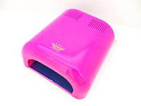 УФ лампа для сушки геля, гель-лака Master Professional MPL-300 на 36 Вт, розовая