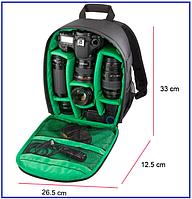 Фото рюкзак для фотокамеры с регулируемыми отделениями