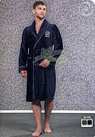 Мужской короткий халат из бамбука Nusa №2790