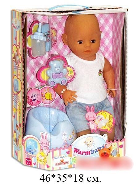 Кукла (мальчик) Warm Baby и аксессуары на батарейках - Babyroom в Харькове