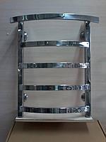 Полотенцесушитель водяной для ванной комнаты Квадро+полка 400*600мм /5 полок нержавеющая сталь