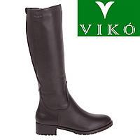 Сапоги женские Viko (кожаные, стильные, удобные, модные, лаконичный дизайн)