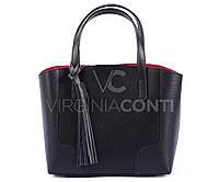 Кожаная сумка-шоппер маленькая