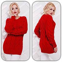 Женский теплый свитер  н-4704431
