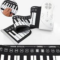 Резиновое гибкое пианино синтезатор 49 клав