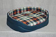Лежак для собак из бязи в клетку