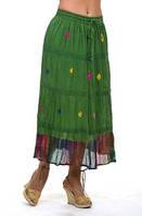 Юбка женская (Ю 10011-3), хлопок, на подкладке, длинная , Ботал, 48,50,52,54,56.