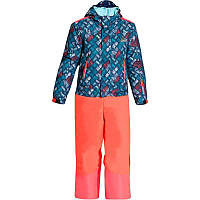 Лыжный костюм KD300 WED'ZE синий с розовыми брюками