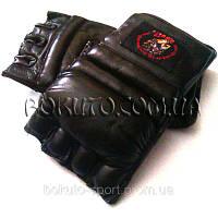 Перчатки для смешанных единоборств (кожа)