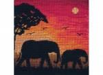 """Набор для вышивания """"Силуэт слонов(Elephant Silhouette)"""" ANCHOR MAIA"""