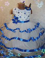 Платье нарядное на девочку 3-7 лет (без шнуровки на молнии)