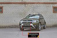 Зимняя заглушка решетки радиатора и переднего бампера Renault Duster 2015+ Рено Дастер