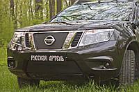 Зимняя заглушка решетки радиатора и переднего бампера Nissan Terrano 2014+ Нисан Терано