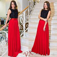 Женское модное вечернее платье с пышной юбкой (2 цвета)