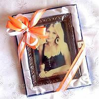 Подарок любимой на 14 февраля. Картина из шоколада с Вашим фото