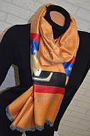 Яркий двусторонний палантин Louis Vuitton