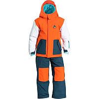 Лыжный костюм SLIDE WED'ZE оранжевый с синими брюками