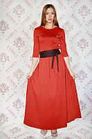 Платье женское нарядное в пол коралловое р.44-46 Yam128