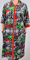 Велюровый женский халат 4225