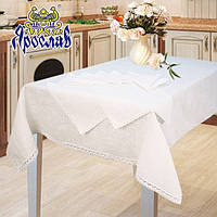 Набор скатерть на стол 150x150 + 4 салфетки
