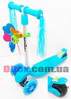 Самокат детский Scooter micro Tri + ветряк + дождик + широкое заднее колесо