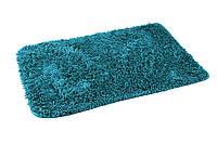 Коврик для ванной комнаты из микрофибры 50*70 синий AWD02160948