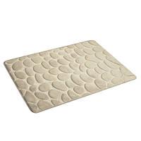 Коврик для ванной комнаты из микрофибры 50*80 бежевый, камни AWD02161142