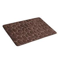 Коврик для ванной комнаты из микрофибры 50*80 коричневый, камни AWD02161143